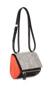 Givenchy Pandora Mini Box in snakeskin and orange