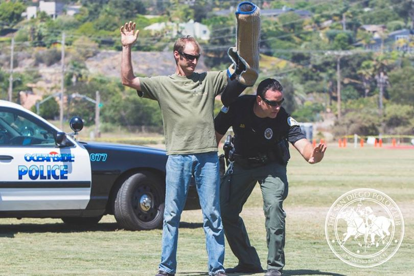 San Diego Polo Club Pan-American Cup Finals & Local Heroes Celebration-Oceanside Police Dog demonstration