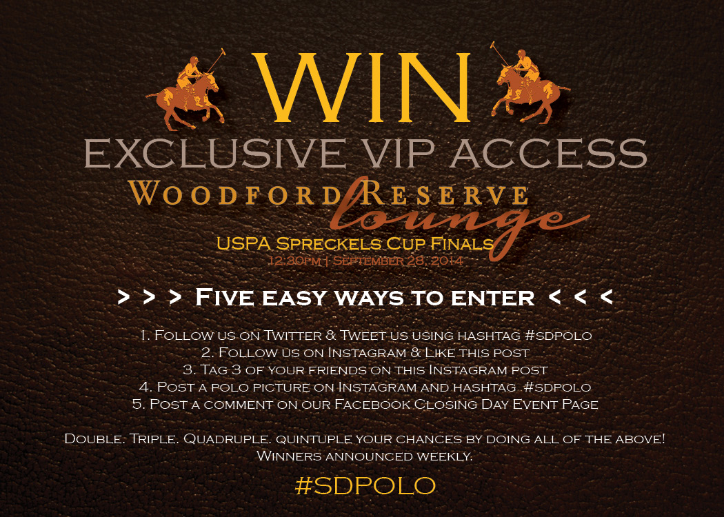 2014 SDPC Woodford Reserve Lounge contest
