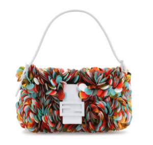 Fendi Multi color Paillette Baguette