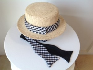 Sonya Berg Zen Fashionista What to Wear to Opening Day to Polo Houndstooth Straw Hat