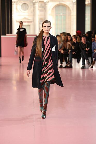 3 Dior jacquard dress